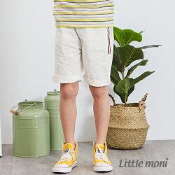 Little moni 休閒素面五分褲-白色