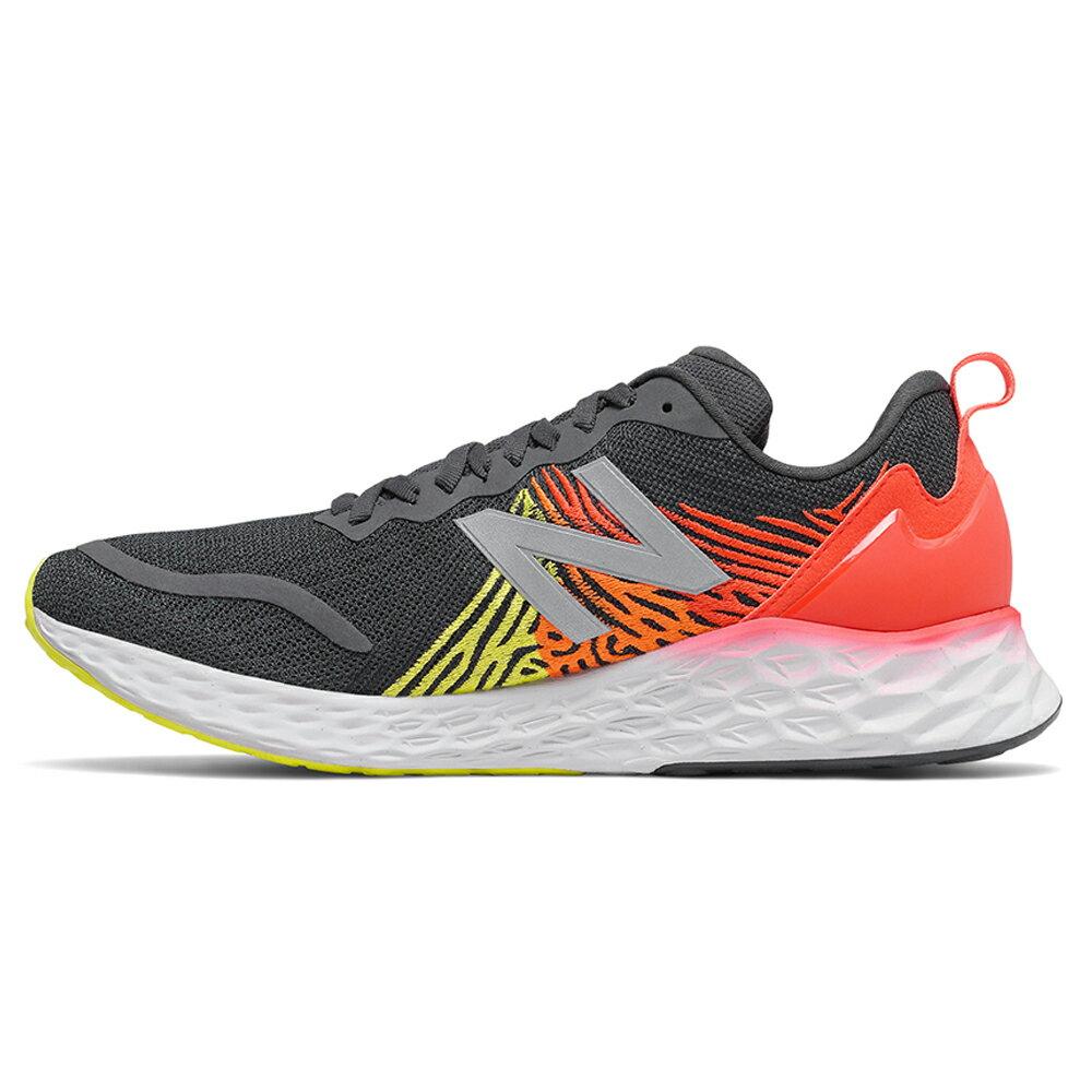 【滿額最高折318】New Balance 2E 男鞋 慢跑 輕量 高緩震 柔軟 網布 黑 橘紅【運動世界】MTMPOBR