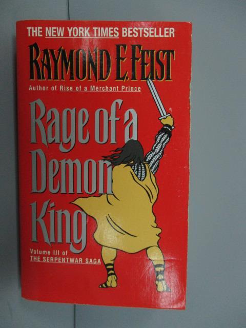 【書寶二手書T1/原文小說_NMX】Rage of a Demon King_Raymond E. Feist