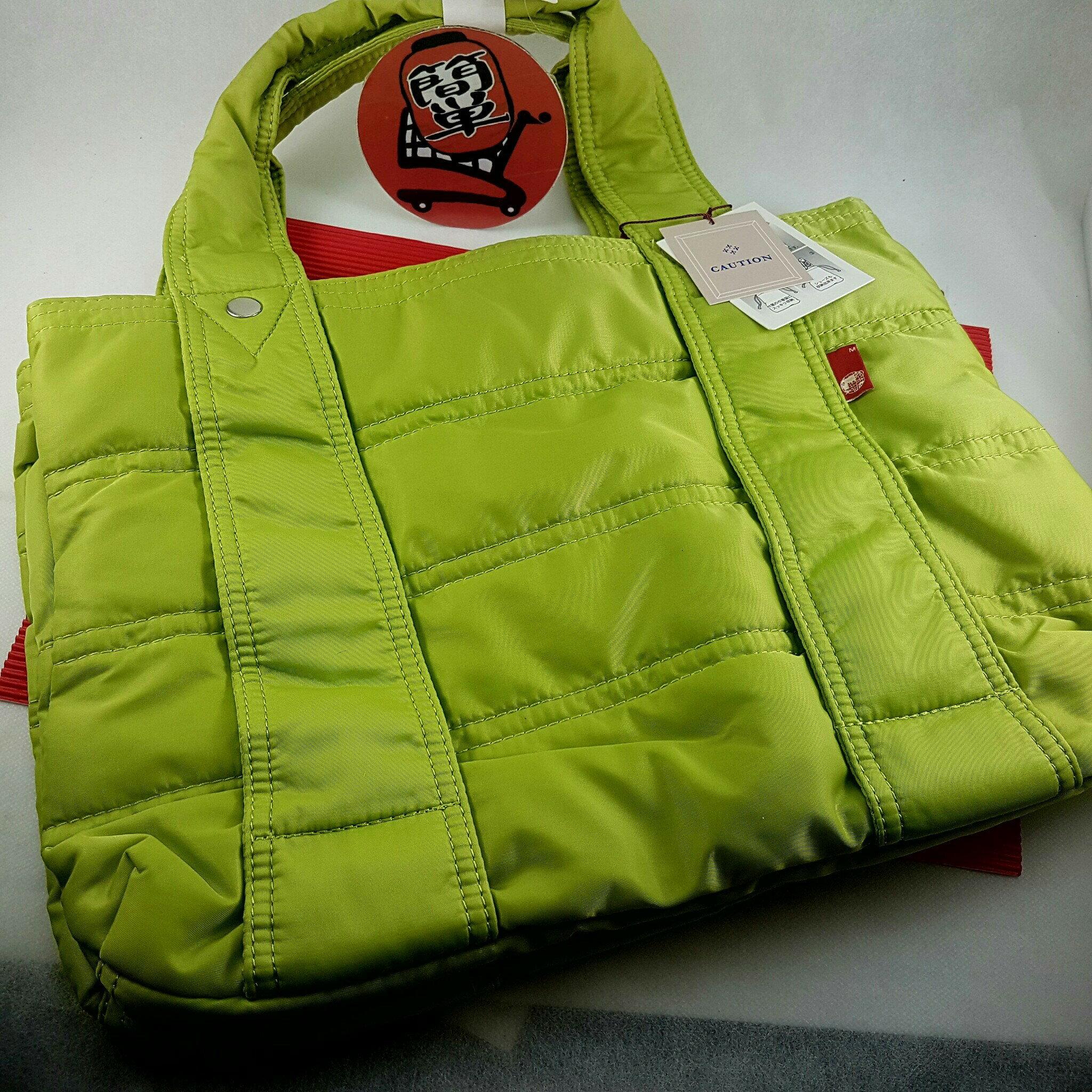 『簡?全球購』淺綠色款 macaronic style 馬卡龍 防水尼龍摺疊包 大包
