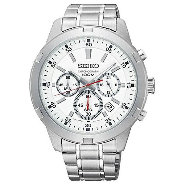 手錶 SEIKO精工型男三眼計時石英錶NES34 - 限時優惠好康折扣