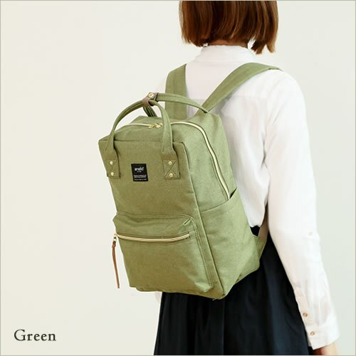 日本anello  /  獨特混色帆布後背包 / 大容量 / 多夾層 /  AT-C1221。共6色-日本必買 日本樂天代購(4212*0.7) 6