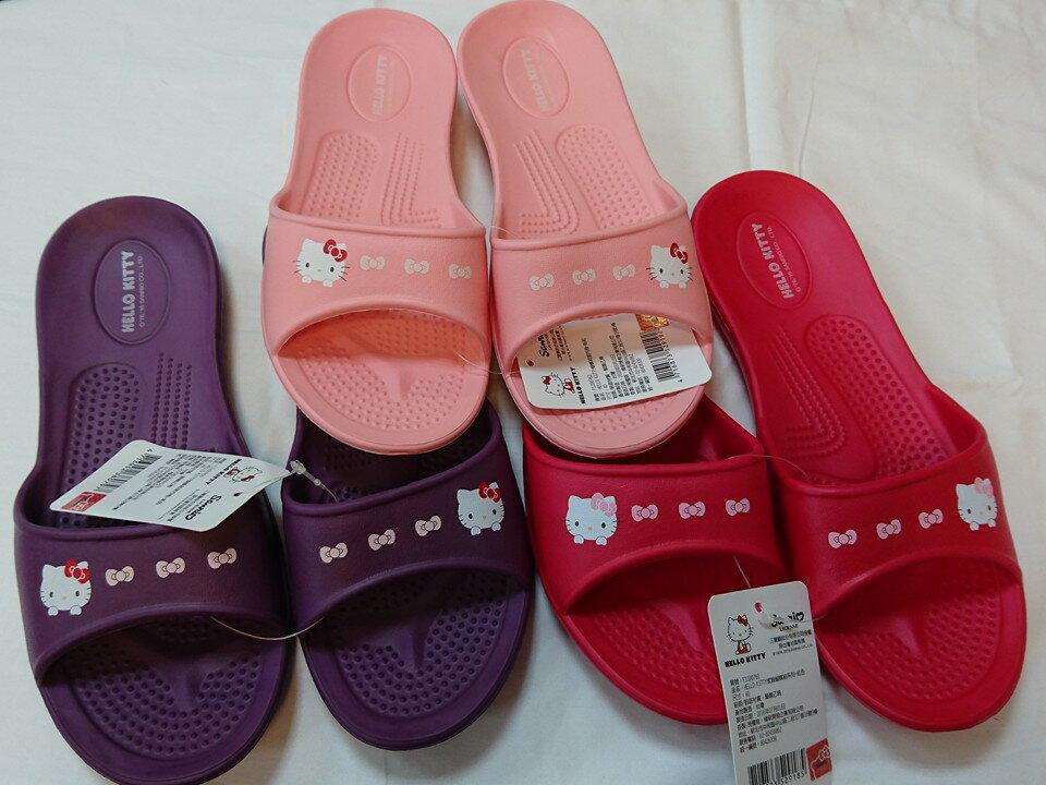 599免運~HELLO KITTY拖鞋尺寸36.38.40 台灣製造超輕防水防滑拖鞋室內外拖鞋 浴室拖鞋