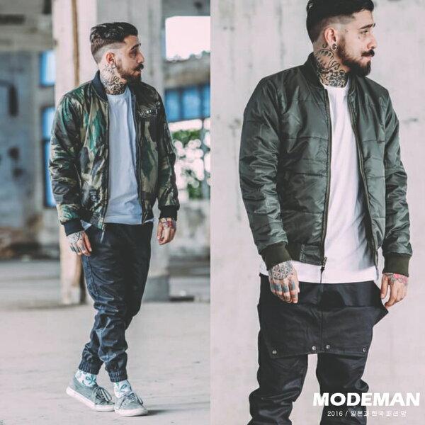 【MODE MAN】歐美潮流迷彩雙面穿鋪棉飛行風衣外套『現貨+預購』