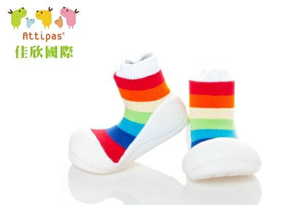 【平均1雙只要495】韓國【Attipas】快樂腳襪型學步鞋(AR彩虹系列)