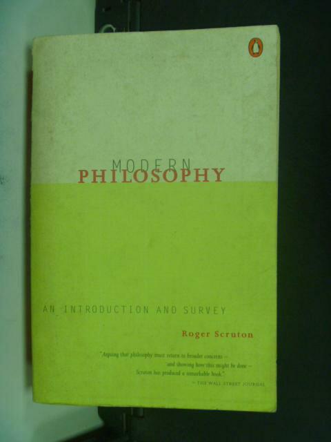 【書寶二手書T5/原文書_HGG】Modern Philosophy_Scruton, Roger