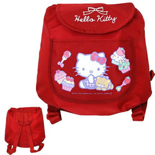 X射線【C127375】Hello Kitty迷你後背包-紅,美妝小物包/媽媽包/面紙包/化妝包/零錢包/收納包/皮夾/手機袋/鑰匙包