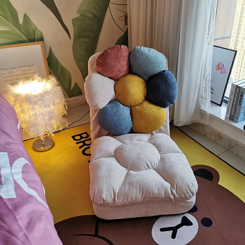 單人沙發 懶人沙發單人榻榻米靠背椅小戶型臥室床上椅子地上陽台躺椅T