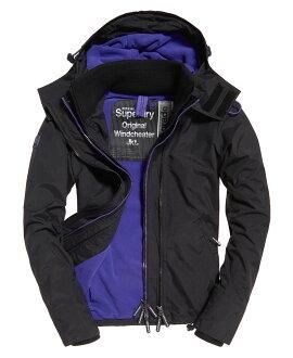 極度乾燥 Superdry Pop Zip Arctic SD-Windcheater 紫羅蘭內裡黑色外套 防風外套 女款