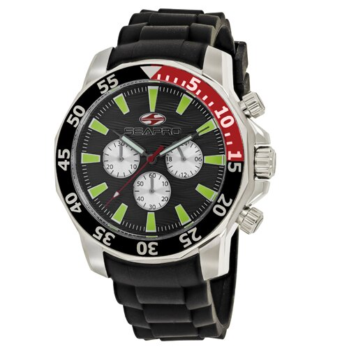 Seapro Men's Scuba Explorer Watch Quartz Mineral Crystal SP8332