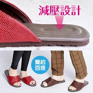 【欣佑佳】減壓居家拖鞋(紅M)
