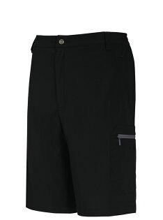 【【蘋果戶外】】山林11S17-01黑色Mountneer男彈性抗UV休閒短褲彈性褲排汗褲吸濕快乾透氣