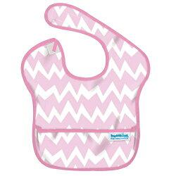 【美國Bumkins】防水兒童圍兜(一般無袖款6個月~2歲適用)-粉鋸齒 BKS-500【紫貝殼】