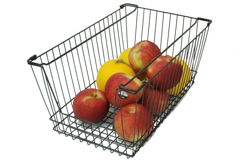 【凱樂絲】媽咪好幫手櫃子鐵線收納籃 (大型) - 自由DIY 空間利用 透氣通風, 客廳, 廚房, 衣櫃適用 3