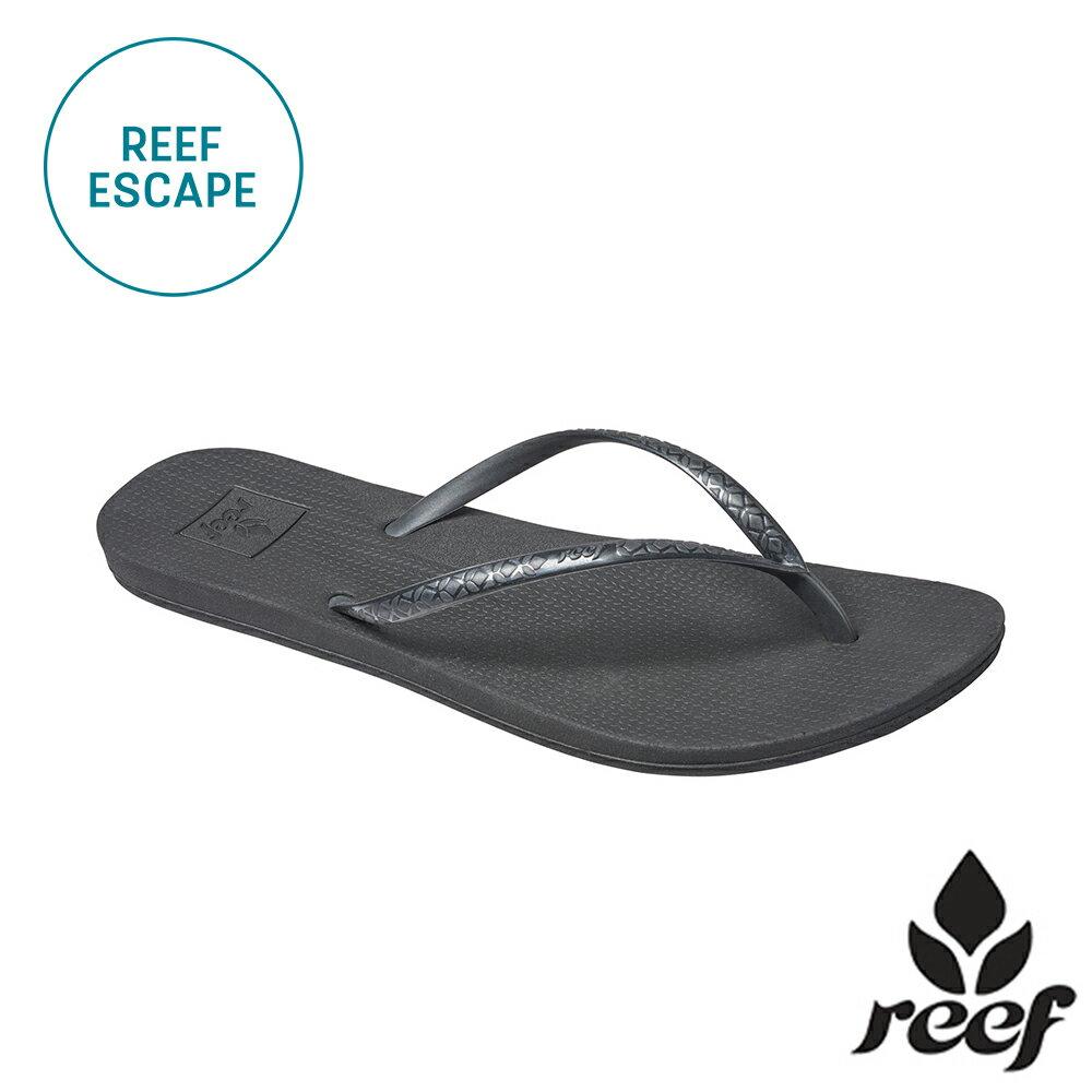 """【79 折優惠↘】REEF ESCAPE 科技防滑耐磨舒適好穿基本款橡膠人字拖 夾腳拖鞋2.0 . 黑《全店滿 $ 700 輸入""""loveyou-beauty """" 現折100》"""