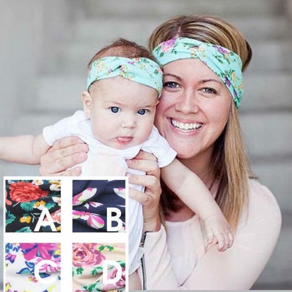 PS Mall 親子款蝴蝶結鬆緊兒童寶寶裝飾髮帶 頭帶 【J798】