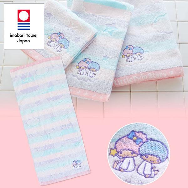 日本雙子星毛巾長方巾刺繡坐雲316160