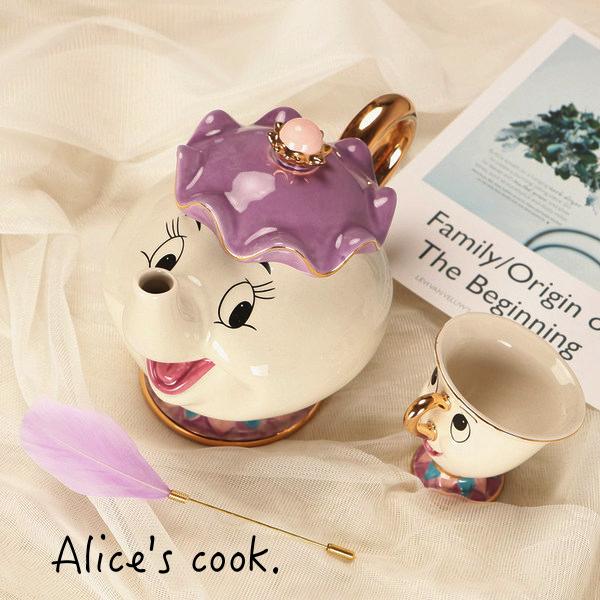經典人氣款 茶壺媽媽與阿奇杯子 陶瓷杯具組 附禮盒 送禮自用推薦款