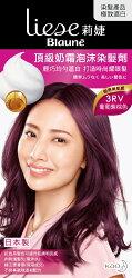 莉婕頂級奶霜泡沫染髮劑 3RV葡萄紫棕色40ml+60ml+8g