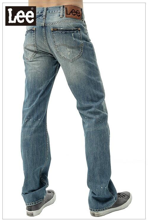 【全館免運 | 滿額↘再折$150】Lee 727 標準直筒牛仔褲 RG 男款 中藍