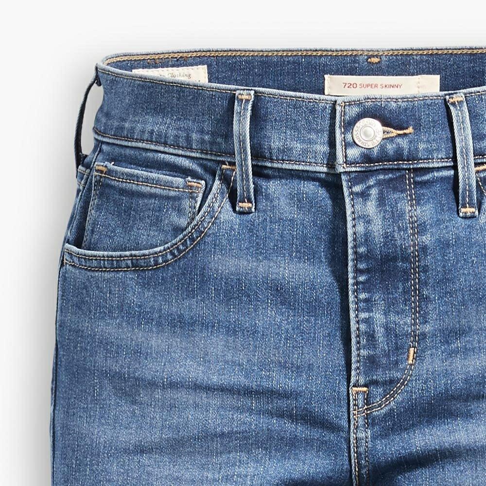 Levis 女款 720 高腰超緊身窄管 超彈力牛仔褲  /  Sorbtek保暖纖維  /  Warm Jeans內刷毛  /  破壞縫補  /  彈性布料 W 5
