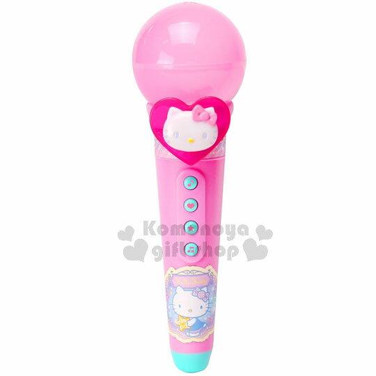 小禮堂 Hello Kitty 音樂麥克風玩具《粉.大臉.愛心.泡殼紙卡》適合3歲以上孩童