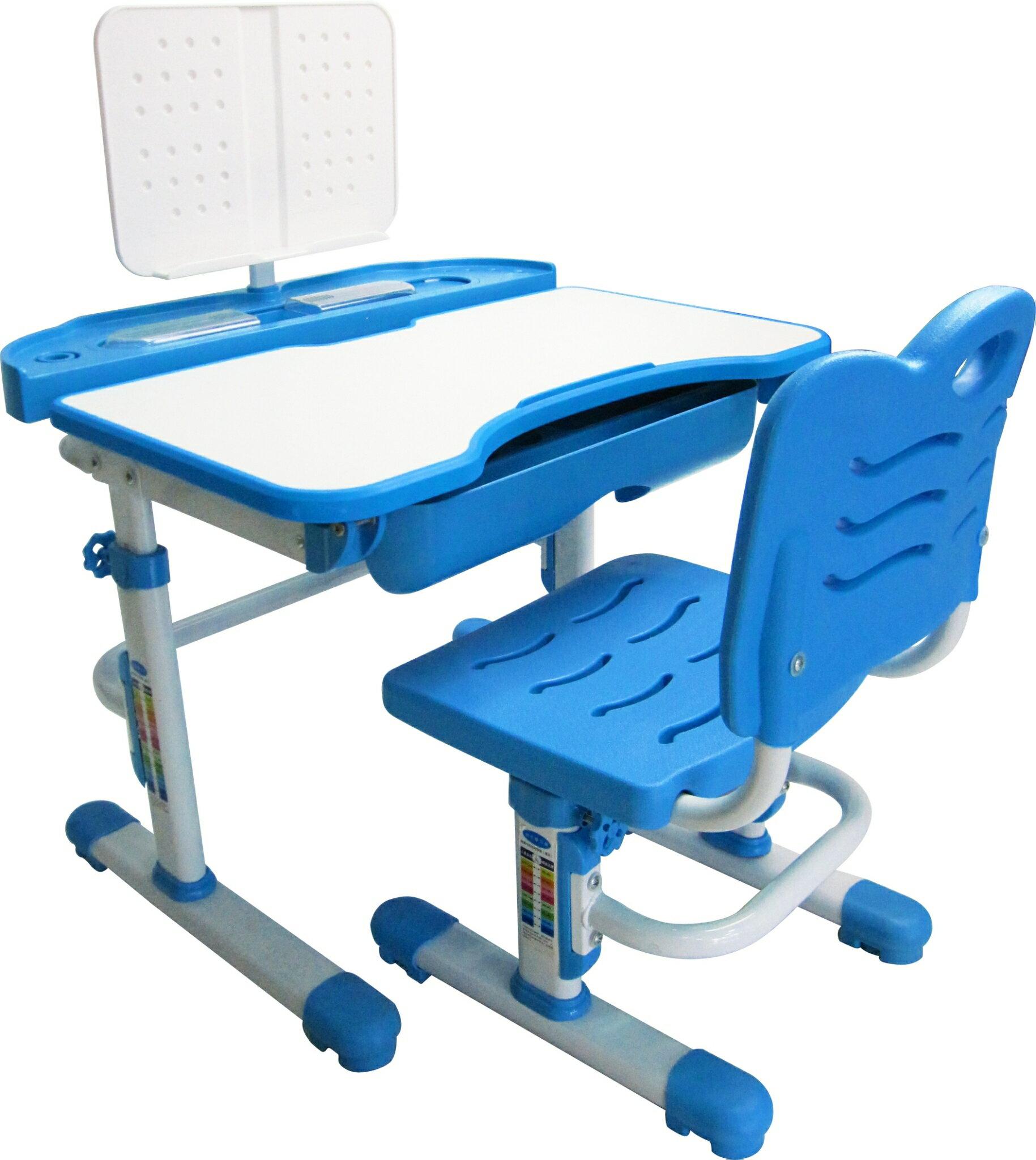 Kikimmy簡約升降書桌椅組-K120P粉/K120B藍【德芳保健藥妝】