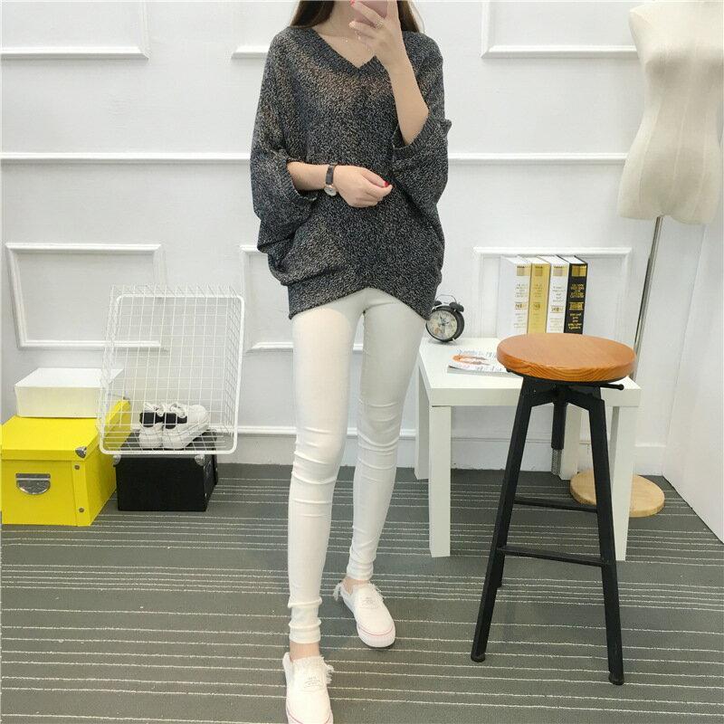 韓版V領純色大碼蝙蝠針織衫甜美百搭上衣潮
