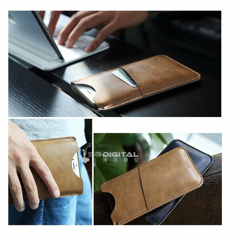 ~斯瑪鋒數位~ROCK Apple iPhone 6/6S Plus質感超薄可插卡手機殼保護套 蘋果6S收納袋商務外殼簡約質感超薄