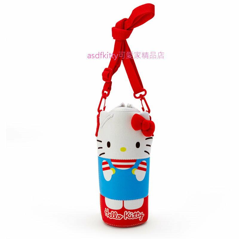 asdfkitty*KITTY造型保溫保冷水壺袋/水壺套-附背帶-可斜背-日本正版商品