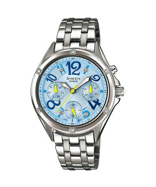 CASIO SHEEN SHE-3031D-2A繽紛霓虹時尚腕錶/藍色35mm