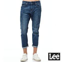 Lee  755 七分低腰3D標準牛仔褲-男款-藍