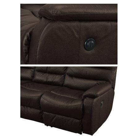◎全皮3人用頂級電動可躺式沙發 BELIEVER2 DBR NITORI宜得利家居 3