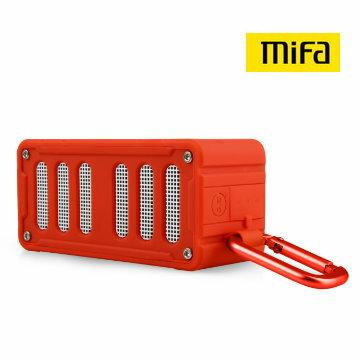 <br/><br/>  MiFa F6 高原紅 無線NFC配對 隨身藍牙MP3喇叭 藍芽4.0 IPX4防潑水 防失真 免持通話 可插卡<br/><br/>