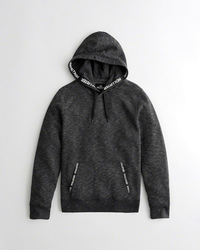 美國百分百【全新真品】Hollister Co. 帽T HCO 連帽 T恤 長袖 色面 海鷗 深灰色 XS號 J719