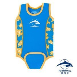 英國Konfidence康飛登嬰兒保暖泳衣12-24個月小丑魚藍990元【現貨一組】