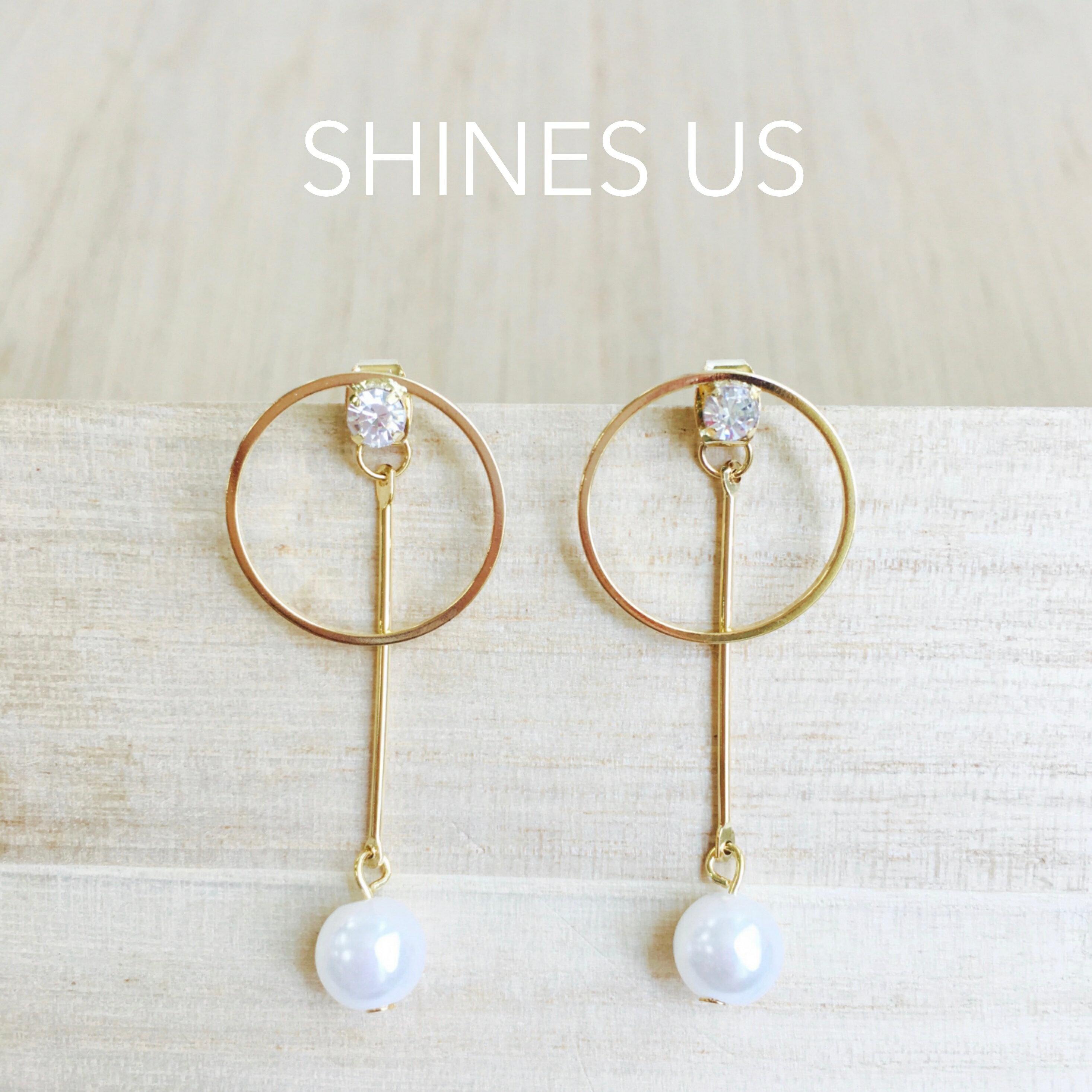 【SHINES US】正韓 珍珠節拍器前後釦耳環
