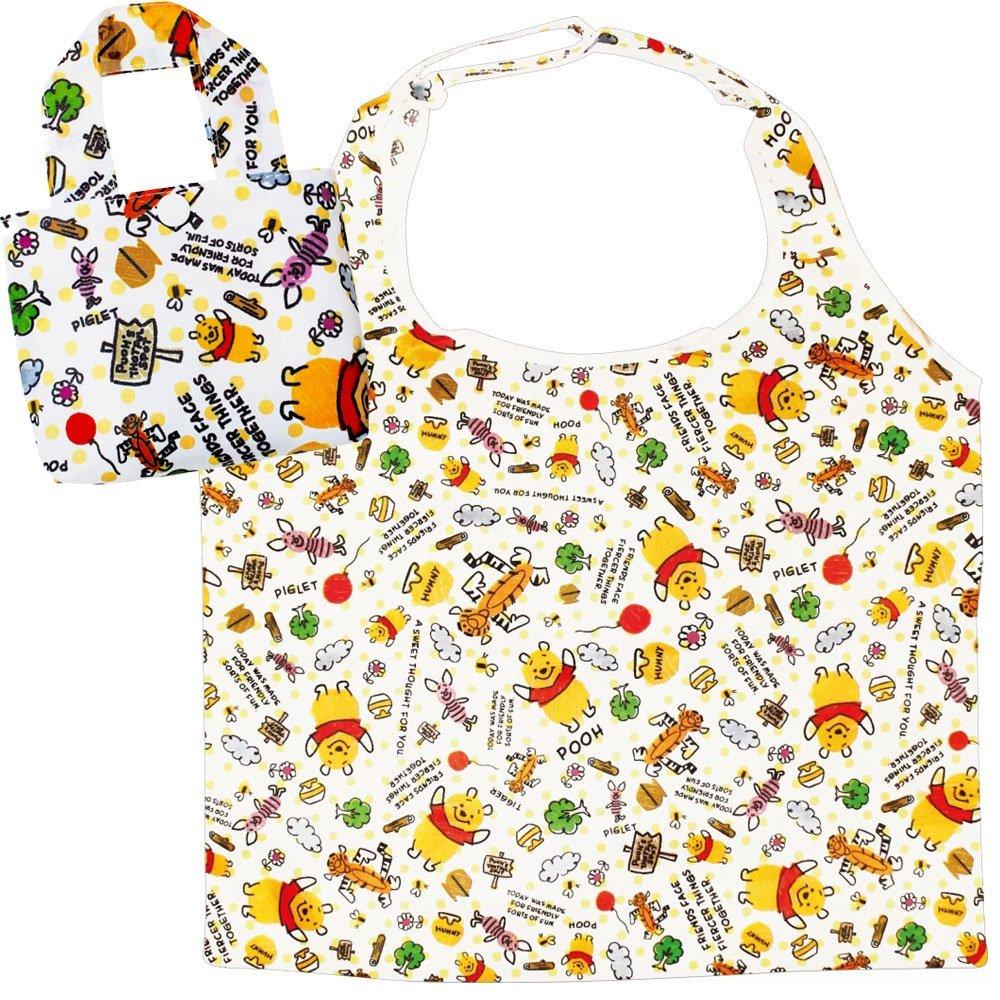 X射線【C047569】小熊維尼Winnie the Pooh 環保購物袋,美妝小物包/筆袋/面紙包/化妝包/零錢包/收納包/皮夾/手機袋/鑰匙包