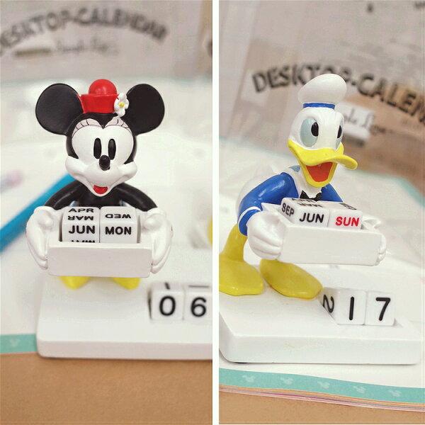 PGS7日本迪士尼系列商品-日貨迪士尼人偶萬年曆米妮Minnie唐老鴨桌曆【SDK71046】