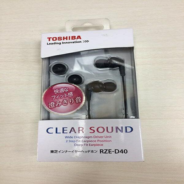 全新品出清~ TOSHIBA高音質耳塞式耳機 RZE-D40-K 黑色