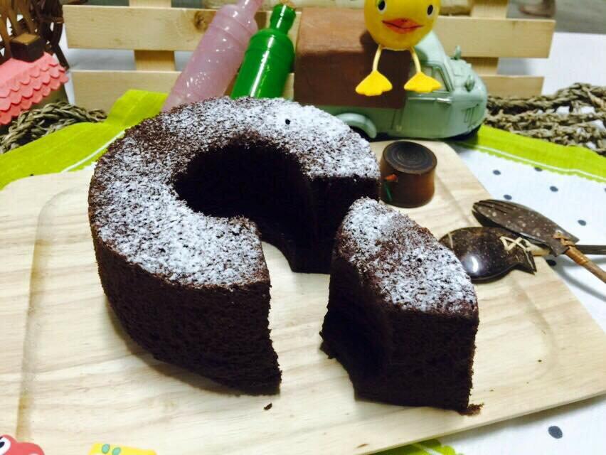 純手工六吋香濃可可戚風蛋糕