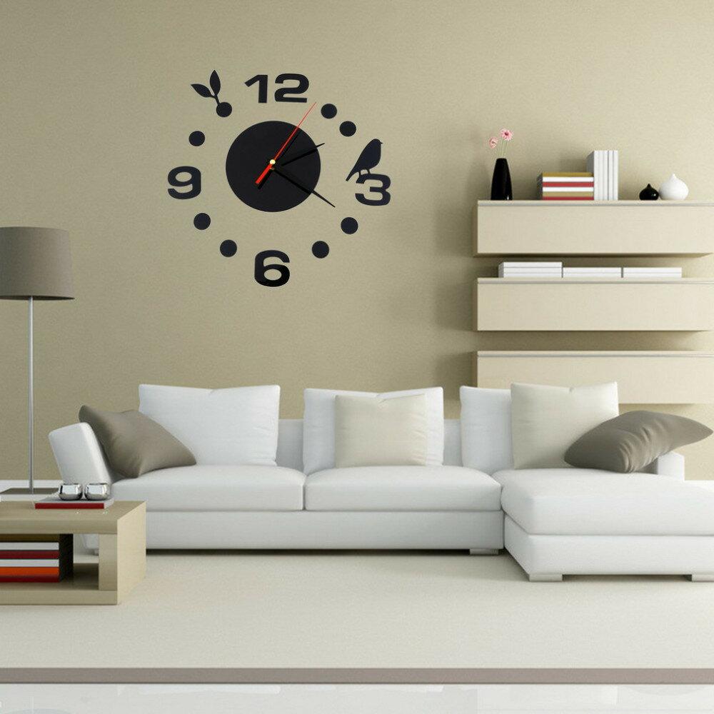 『DIY趣味壁貼掛鐘』壁貼、 3D立體、合金鏡面、裝飾、時鐘
