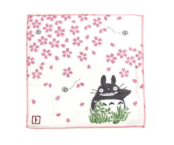 【真愛日本】17041400029 日本製四季紗布小方巾-櫻花 龍貓 TOTORO 豆豆龍 毛巾 方巾 手帕