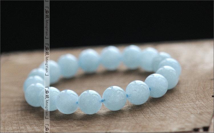 水晶 海藍寶10mm手鏈 海的女兒 清爽海洋氣息