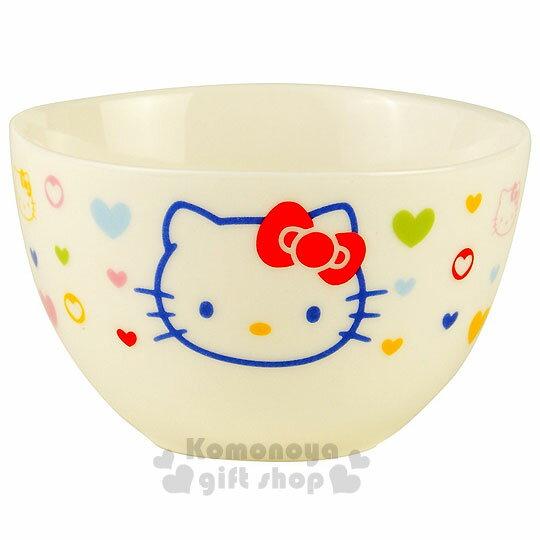 〔小禮堂〕Hello Kitty 日製陶瓷杯《S小.白.繽紛愛心.大臉》可愛又實用