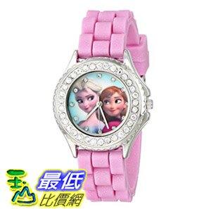 [107美國直購] 兒童手錶 Disney Kids FZN3554 Frozen Anna and Elsa Rhinestone-Accented Watch with Glittered Pin..