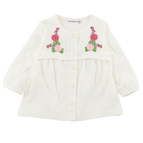 金魚系列 純棉排釦繡花上衣