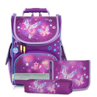 【加賀皮件】Tiger Family 小貴族 輕量 安全反光 護脊書包 兒童書包 書包 星空蝴蝶 TGNQ18 送文具組/筆袋