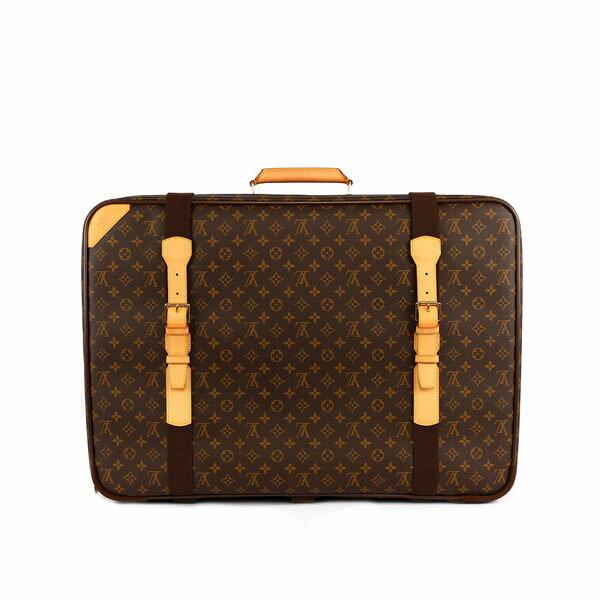 【LV】LV logo方形行李袋 M23350