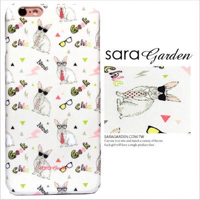 SaraGarden:客製化手機殼iPhone766SPlus【多型號製作】保護殼墨鏡繽紛兔兔閃電